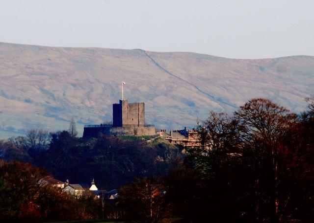 Clitheroe Castle At dusk