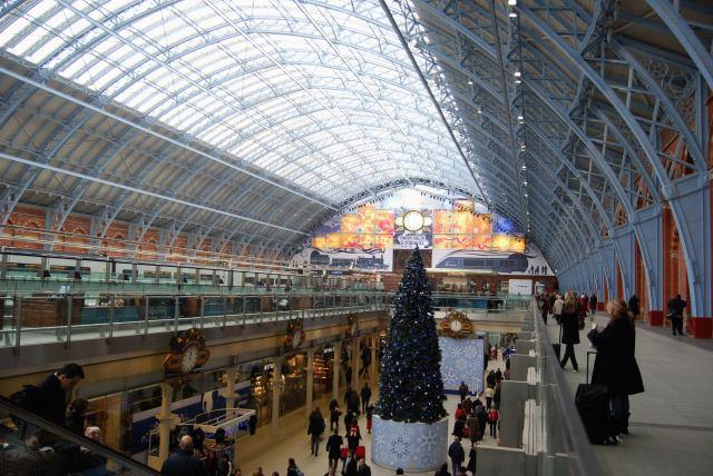 Inside Renovated St Pancras Station