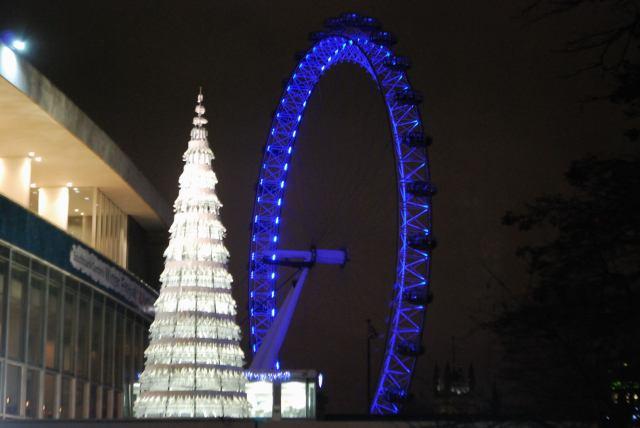 London Eye From South Bank Xmas 2014